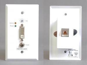 DVI-D受信側コンセントプレート(アクティブ)