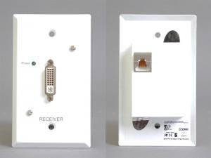 DVI-D受信側コンセントプレート(パッシブ)