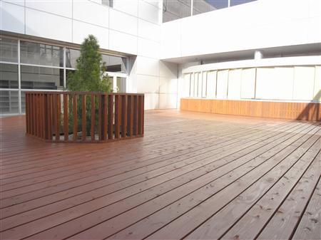 レッドウッド 天然木製デッキ
