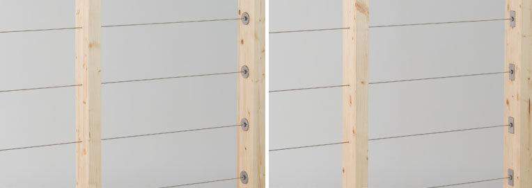木製支柱用ワイヤー手摺