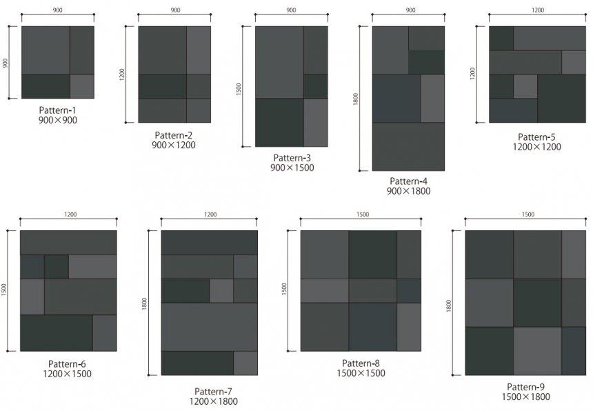 耐候性鋼パネル配置パターン