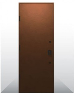 耐候性鋼板片開き玄関ドアユニット