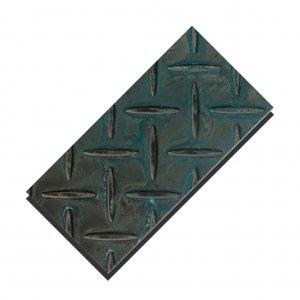 縞板 緑青