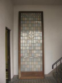 アンティークモザイクステンドガラスドア