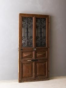 イギリス製アンティークロートアイアン付きドア