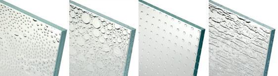 気泡がデザインされたガラス