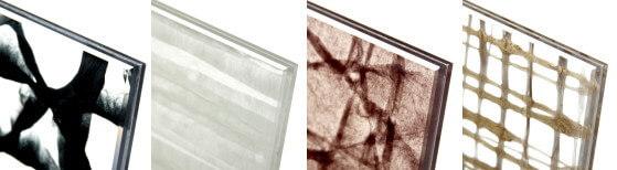 和紙をラミネートしたガラス