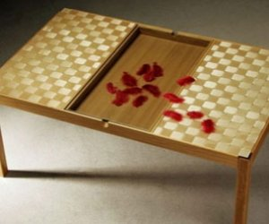 ラミネートガラステーブル